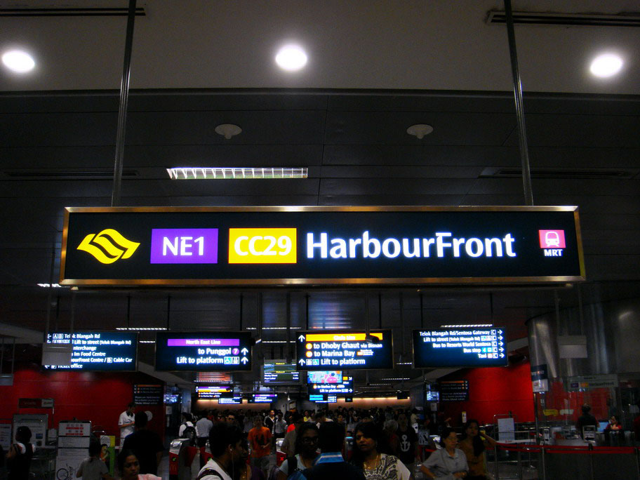 Harbour Front NE1 Singapore MRT Station