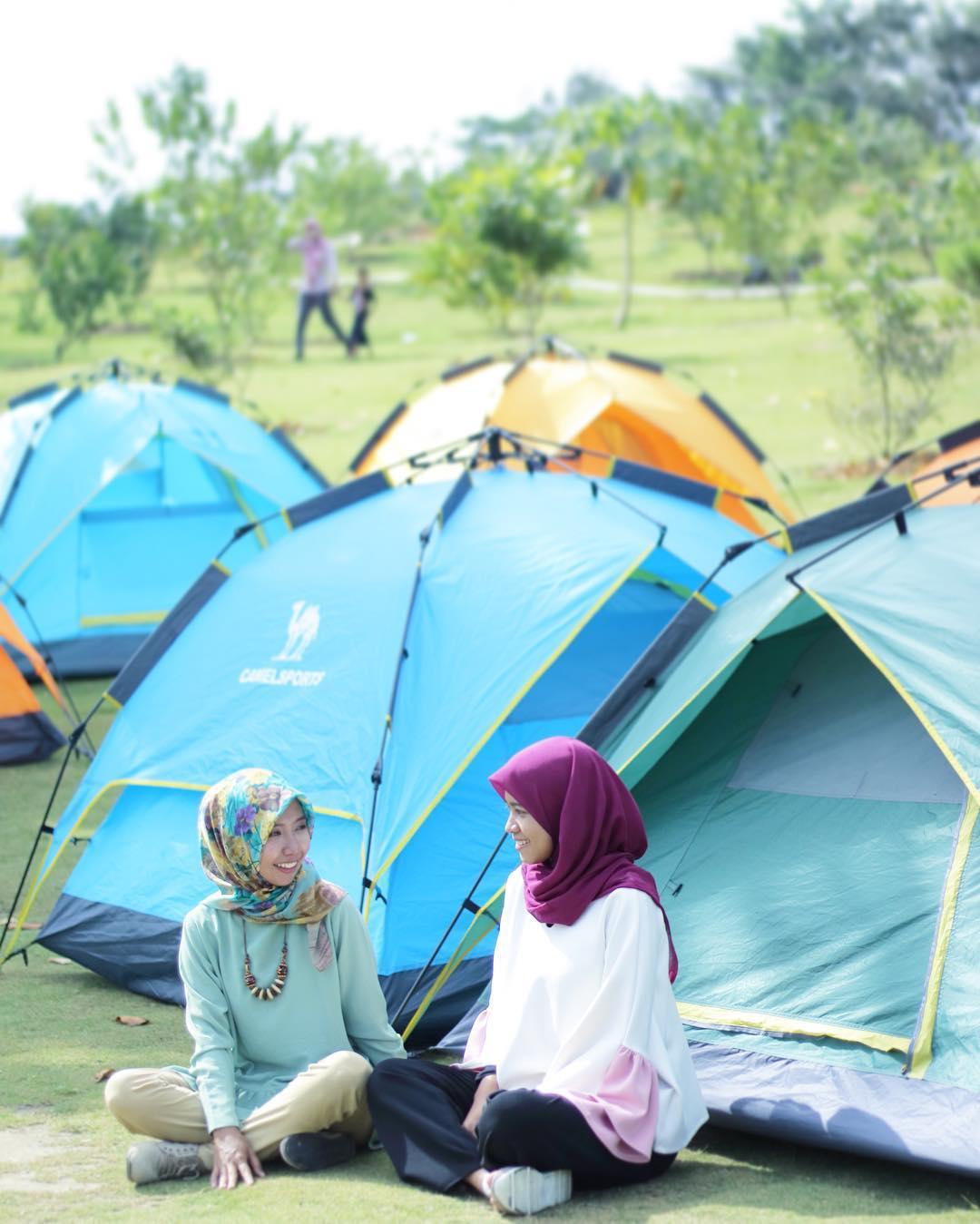 Camping di Pemancingan Poyotomo Bintan. Photo by Teguh
